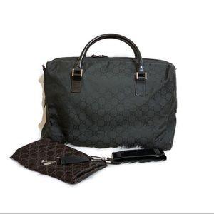 GUCCI Monogram Duffel Travel Bag Black